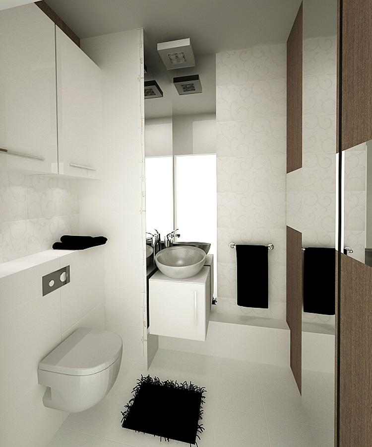 Projekty ma ych azienek aran acja ma ej azienki d m b for Salle de bain d architecte