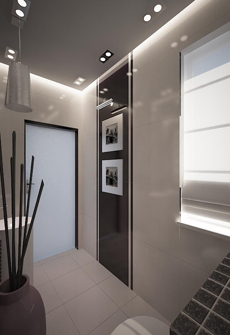 Projekty Małych łazienek Aranżacja Małej łazienki Ł 243 Dź M B