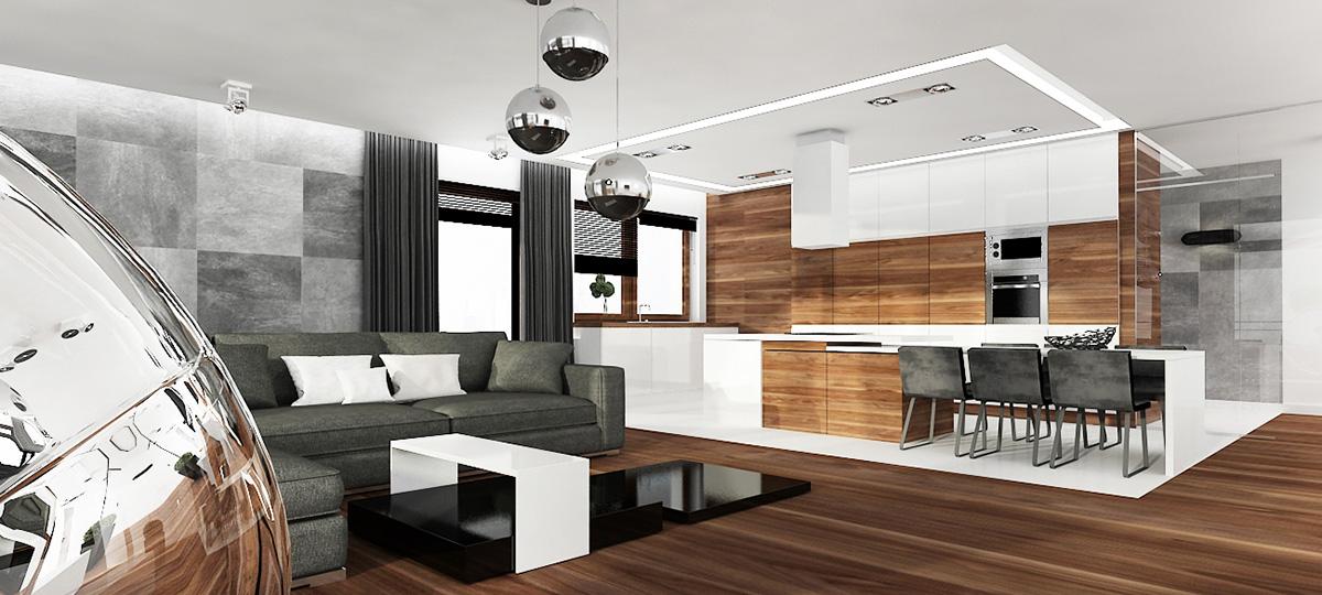 » kuchnia otwarta na salon -> Kuchnia Z Oknem Otwarta Na Salon